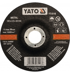 Disco de Corte para Metal 125 x 2.5 mm.